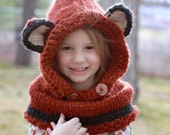 Fox Cowl  Hood Hat Photo Prop Photography / What Does the Fox Say??