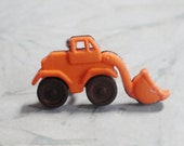 Front End Loader Truck Croc / Clog Button - Charm for Boys or Girls