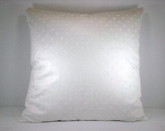 White Dot Screen Print Cotton Decorative Accent Toss Pillow 18x18 Pillow Cover