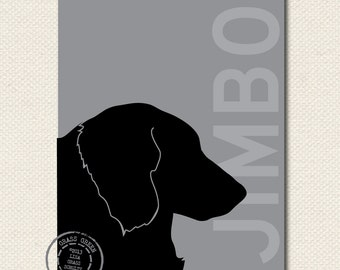 Profile Dog Silhouette Print 8x10