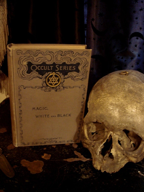 MAGIC WHITE and BLACK Occult Series Rare Antique Occult