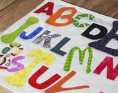 Kids Placemats - A B C D E F G... Do the Alphabet with Me - Vinyl Covered