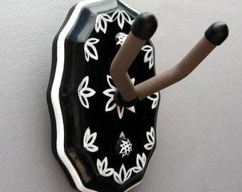 CUSTOM ORDER - Ukelele Wall PROFESSIONAL Hanger Hook  -- Handmade for Uke or Mandolin