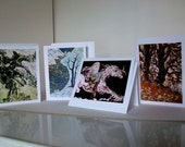 """Cards set   -  """"Lord of the Rings"""" series   -   Set of four Magical blank Cards"""