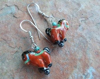 Handmade Pony Earrings