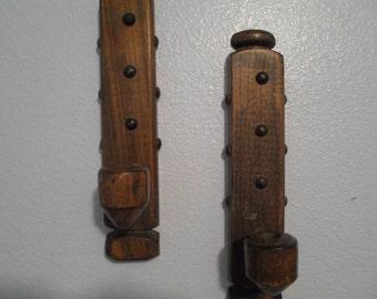 Solid Wood Handmade Vintage Wall Sconces