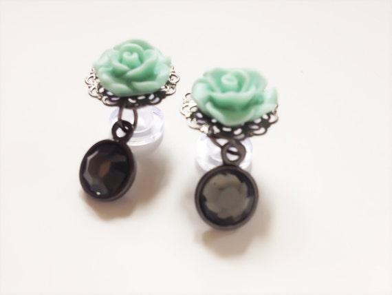 6g dangle plugs plugs 24 custom colors gauged earrings