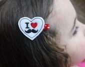 Mustache Love Hair Clip- Meet Miss Poppy