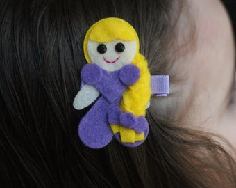 Tangled Inspired Hair Clip - Meet Miss Rapunzel