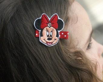 Minnie Mouse Inspired Hair Clip - Meet Miss Minnie