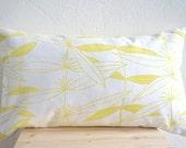 "Lemon Cushion Organic Cotten 20 x 12"""