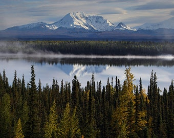 Alaska Mountains at sunrise in the Fall, Fine Art print