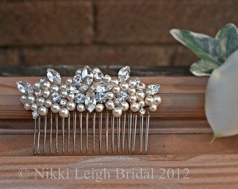 Swarovski Pearl and Diamante Hair Comb
