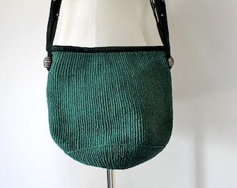 Straw Handbag / 70s Market Tote / Small Market Tote / Straw and Suede Bag / Raffia Shoulder Bag