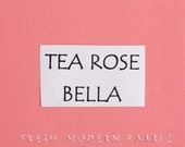 One Yard Tea Rose Bella Cotton Solid Fabric from Moda, 9900 89