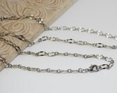 Silver Rhodium FINISHED Chain 28 to 30 Inch
