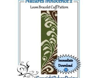 Bead Pattern Loom(Bracelet Cuff)-Natures Innocence 2