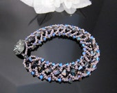 Woven Swarovski Crystal Heliotrope Bracelet