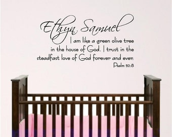 Personalized Child's Name wall decal