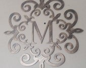 Family Initial,  Monogram, Antique Look, ANY LETTER available, Metal Art