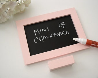 Pink Mini Chalkboard To Do List - Eco-Friendly Magnetic Blackboard for the Fridge or Desktop in Rose Petal Pink