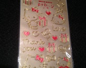 Gold Hello Kitty Stickers