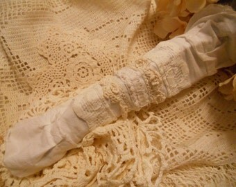 alabaster and lace vintage lace white bouquet sleeve wrap