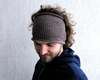 Knitted Mens Headband Hat Guys knit hair wrap Unisex Adults Dread band