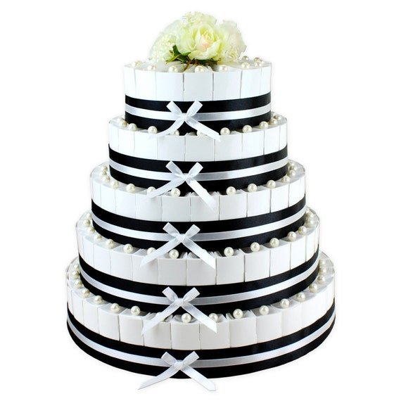 100 white pearlescent wedding cake slice favor boxes new. Black Bedroom Furniture Sets. Home Design Ideas