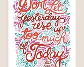 11x14-in Will Rogers Quote Illustration Print.