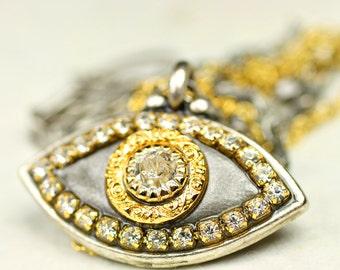 Contemporary Evil Eye Amulet Necklace