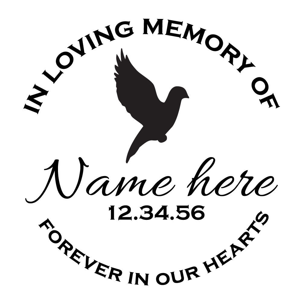 Car Window Vinyl Outdoor Lettering Custom Customized In Loving Memory Graphics