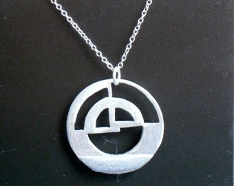 Silver Pendant (Sterling silver circular pendant with a 30mm diameter)