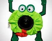 Gift for Photographer- Pet Fred FROG with SQUEAKER camera lens prop- Ready to ship