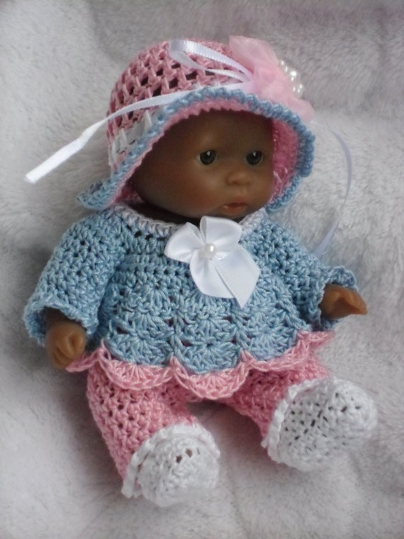 Crochet Pattern For Berenguer 5 Inch Baby Doll Dress With