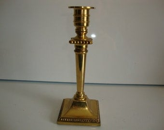 Vintage Brass Candle Holder, Candle Stick Holder, 7 Inch Candle Holder
