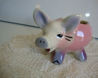 Collectible Ceramic Pig Knick Knack