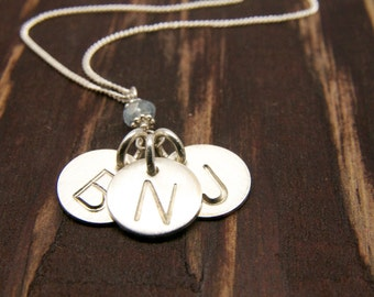 Mother Child Jewelry/Mothers Day Gift Ideas/Personalized Mothers Day Necklaces/Set of Three Disc