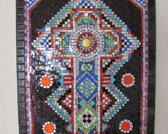 Cross, Original, One of a kind. Mosaic.