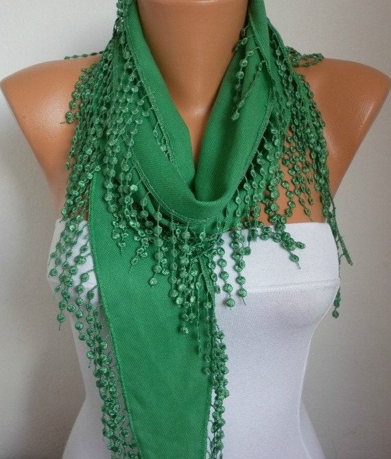 on sale pigment green scarf pashmina scarf cowl by fatwoman
