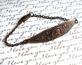 Mary Bracelet - Blessed Virgin Mary Bracelet - Vintaj Natural Brass -  Made in USA