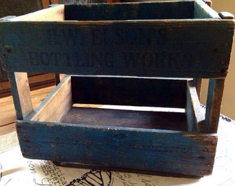 Vintage Wood Crate H W Nelsons Bottling Works