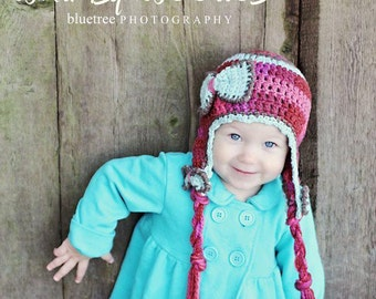 CROCHET HaT PATTERN: 'Blueberry Kisses',  with Bows, Toddler Crochet, Kids Fashion