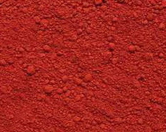 RED Oxide Pigment Color (Matte) 1/2 oz., 1 oz., 2 oz. or larger!
