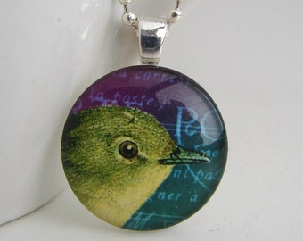 Green Bird Pendant with Free Necklace