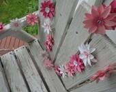 Paper Flower Garland Swag Handmade Paper Garland Valentines Day Decor Special