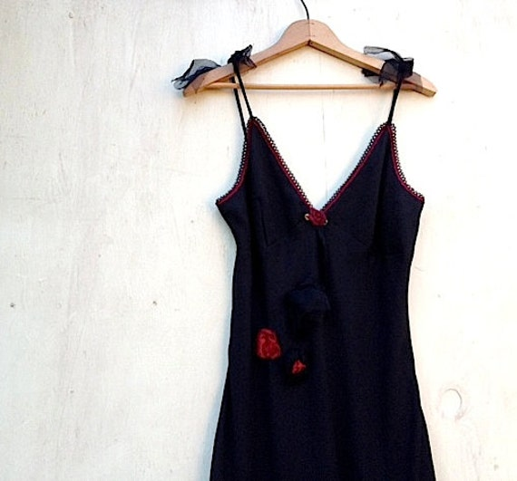 SALE summer eco party black party dress rustic strappy sweetheart eco upcycled Bridesmaid floor length formal fashion