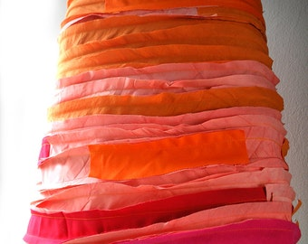Skirt (orange-pink combination)-100% cotton