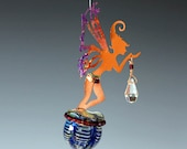 Potion Bottle with Copper Manifestation Fairy Sculpture & Sun Catcher