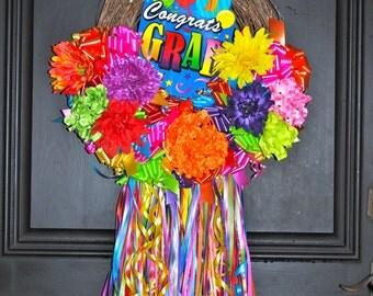 Graduation Gift-Wreath-Graduation Decoration-Door Wreath-Party Decoration-Party Decor-Graduation Decor-Graduation Ideas-